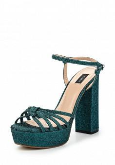 Босоножки, Pinko, цвет: зеленый. Артикул: PI754AWOIF27. Премиум / Обувь / Босоножки