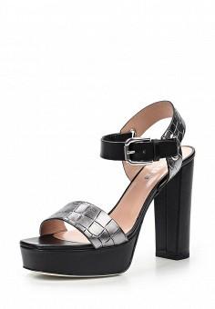 Босоножки, Pollini, цвет: серый. Артикул: PO756AWQBB43. Премиум / Обувь / Босоножки