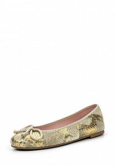 Балетки, Pretty Ballerinas, цвет: золотой. Артикул: PR758AWSBB54. Премиум / Обувь / Балетки
