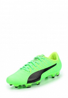 Бутсы, Puma, цвет: зеленый. Артикул: PU053AUQOX59. Женская обувь / Кроссовки и кеды / Кроссовки