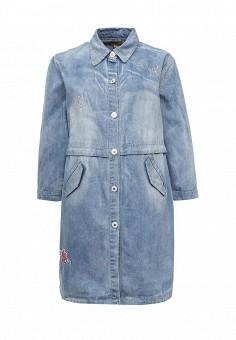 Куртка джинсовая, QED London, цвет: голубой. Артикул: QE001EWROL79. Женская одежда / Верхняя одежда / Джинсовые куртки