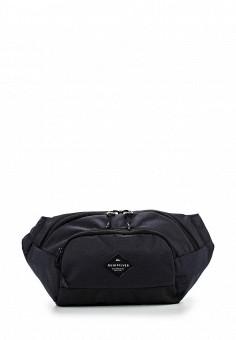 Сумка поясная, Quiksilver, цвет: черный. Артикул: QU192BMPFJ55. Мужские аксессуары / Сумки / Поясные сумки