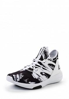 Кроссовки, Reebok, цвет: черно-белый. Артикул: RE160AWQJV61. Женская обувь / Кроссовки и кеды