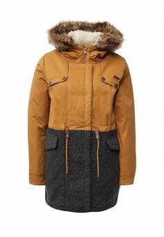 Парка, Roxy, цвет: коричневый. Артикул: RO165EWKCF34. Женская одежда / Верхняя одежда / Парки