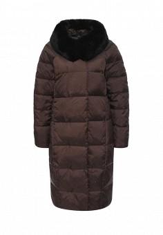 Пуховик, Sela, цвет: коричневый. Артикул: SE001EWKKP86. Женская одежда / Верхняя одежда / Пуховики и зимние куртки