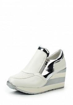 Кеды на танкетке, Sergio Todzi, цвет: белый. Артикул: SE025AWSNU93. Женская обувь / Кроссовки и кеды