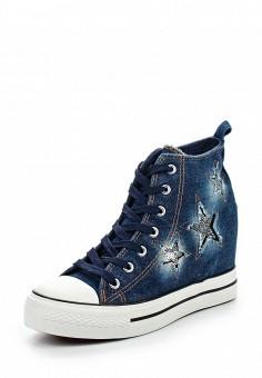 Кеды на танкетке, Sergio Todzi, цвет: синий. Артикул: SE025AWSOU22. Женская обувь / Кроссовки и кеды / Кеды