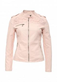 Куртка кожаная, Softy, цвет: розовый. Артикул: SO017EWROZ38. Женская одежда / Верхняя одежда / Кожаные куртки
