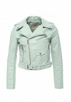 Куртка кожаная, Softy, цвет: мятный. Артикул: SO017EWROZ52. Женская одежда / Верхняя одежда / Кожаные куртки