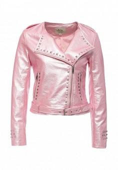 Куртка кожаная, Softy, цвет: розовый. Артикул: SO017EWROZ60. Женская одежда / Верхняя одежда / Кожаные куртки