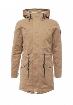 Парка, Springfield, цвет: коричневый. Артикул: SP014EMKMB19. Мужская одежда / Верхняя одежда