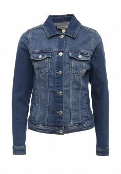 Куртка джинсовая, Springfield, цвет: синий. Артикул: SP014EWRKX90. Женская одежда / Тренды сезона / Летний деним / Джинсовые куртки