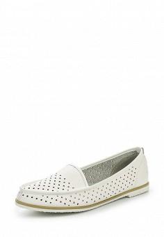 Мокасины, Sparkling, цвет: белый. Артикул: SP315AWSBW76. Женская обувь / Мокасины и топсайдеры