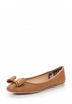 Балетки, Ted Baker London, цвет: коричневый. Артикул: TE019AWQLR96. Премиум / Обувь / Балетки