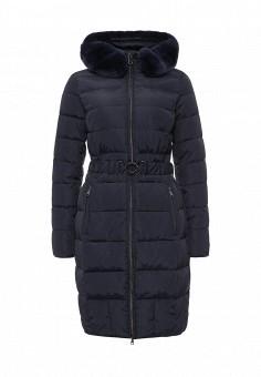 Пуховик, Tom Farr, цвет: синий. Артикул: TO005EWLJP37. Женская одежда / Верхняя одежда / Пуховики и зимние куртки
