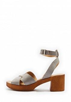Босоножки, Topshop, цвет: серый. Артикул: TO029AWTJR69. Женская обувь / Босоножки