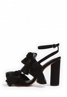 Босоножки, Topshop, цвет: черный. Артикул: TO029AWTQX28. Женская обувь / Босоножки
