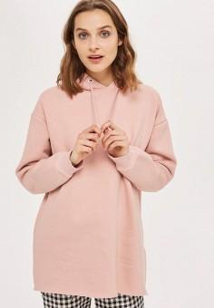 Свитшот, Topshop, цвет: розовый. Артикул: TO029EWTQY79.