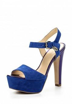 Босоножки, Trussardi Jeans, цвет: синий. Артикул: TR016AWOOA80. Премиум / Обувь / Босоножки