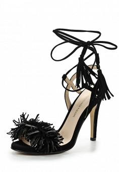 Босоножки, Trussardi Jeans, цвет: черный. Артикул: TR016AWOOA85. Премиум / Обувь / Босоножки