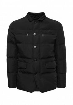 Пуховик, Trussardi Jeans, цвет: черный. Артикул: TR016EMUWE51. Мужская одежда / Верхняя одежда / Пуховики и зимние куртки