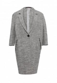 Пальто, Trussardi Jeans, цвет: серый. Артикул: TR016EWOOP78. Премиум / Одежда / Верхняя одежда / Пальто