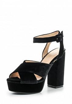 Босоножки, Tulipano, цвет: черный. Артикул: TU005AWSSH79. Женская обувь / Босоножки
