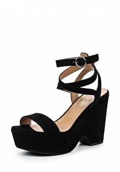 Босоножки, Twin-Set Simona Barbieri, цвет: черный. Артикул: TW005AWQOK07. Премиум / Обувь / Босоножки