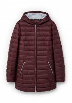Куртка утепленная, Violeta by Mango, цвет: бордовый. Артикул: VI005EWLKG76. Женская одежда / Верхняя одежда / Пуховики и зимние куртки