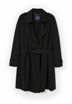 Плащ, Violeta by Mango, цвет: черный. Артикул: VI005EWPPK75. Женская одежда / Верхняя одежда / Плащи и тренчкоты