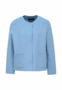 Полупальто, Weekend Max Mara, цвет: голубой. Артикул: WE017EWORB81. Премиум / Одежда / Верхняя одежда / Пальто