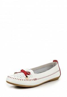 Мокасины, Zenden Comfort, цвет: белый. Артикул: ZE011AWPRE28. Женская обувь / Мокасины и топсайдеры