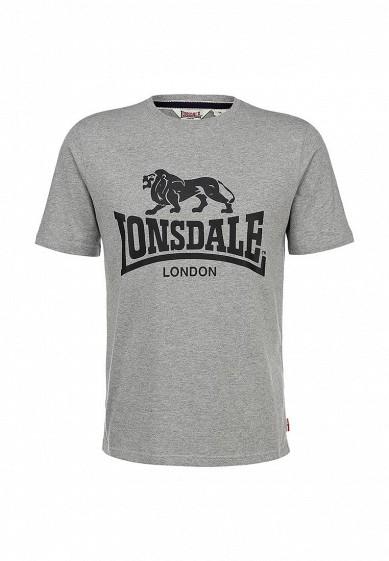 Футболка Lonsdale серый LO789EMARB45 Индонезия  - купить со скидкой