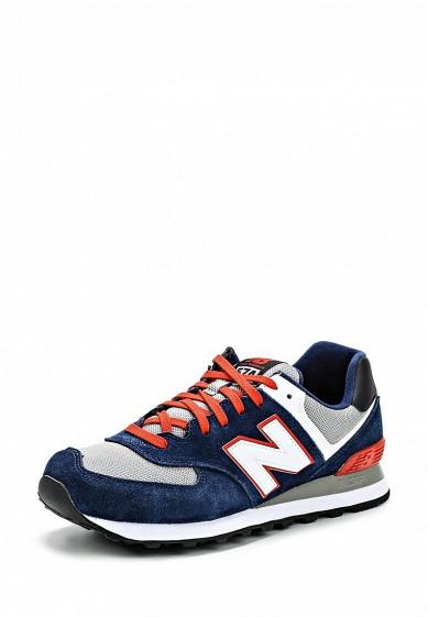 Кроссовки New Balance ML574 синий NE007AMDWX34 Вьетнам  - купить со скидкой