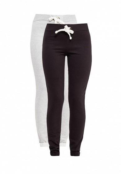 Комплект брюк 2 шт. oodji серый, черный OO001EWSXC88  - купить со скидкой