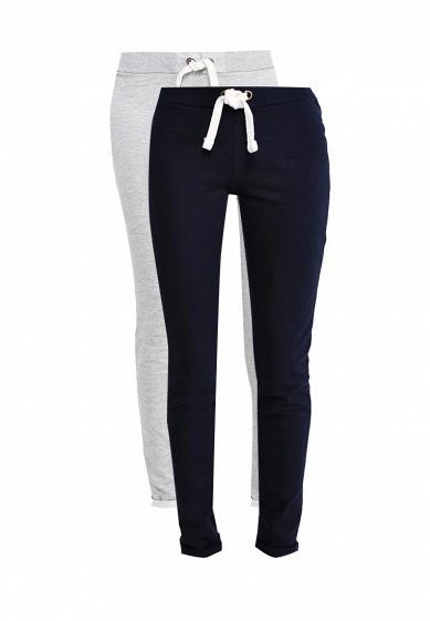 Комплект брюк 2 шт. oodji серый, синий OO001EWSXC89  - купить со скидкой