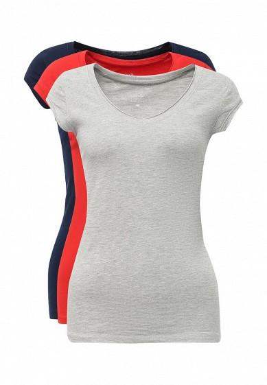 Купить Комплект футболок 3 шт. oodji красный, серый, синий OO001EWXVB38 Узбекистан