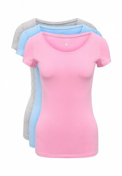 Купить Комплект футболок 3 шт. oodji голубой, розовый, серый OO001EWXZS37 Узбекистан