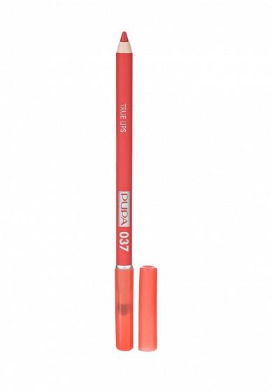 Купить Карандаш для губ Pupa TRUE LIPS, тон 037 Сладкий абрикосовый коралловый PU006LWYWW83 Италия