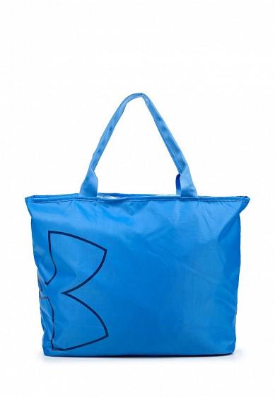 Сумка спортивная UA Big Logo Tote Under Armour голубой UN001BWOIZ66  - купить со скидкой