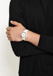 Белые часы круглые формы кварцевые наручные часы - Отзывы