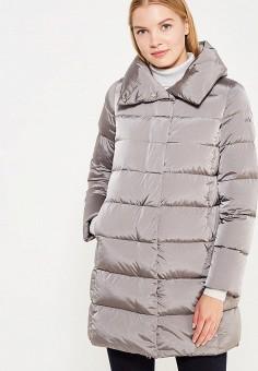 Пуховик, Add, цвет: серый. Артикул: AD504EWTCZ44. Женская одежда / Верхняя одежда / Пуховики и зимние куртки