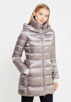 Пуховик, Add, цвет: серый. Артикул: AD504EWTCZ59. Премиум / Одежда / Верхняя одежда / Пуховики и зимние куртки