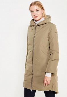 Пуховик, Add, цвет: хаки. Артикул: AD504EWTCZ72. Женская одежда / Верхняя одежда / Пуховики и зимние куртки