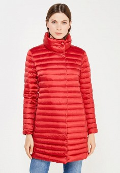 Пуховик, Add, цвет: красный. Артикул: AD504EWTCZ82. Женская одежда / Верхняя одежда / Пуховики и зимние куртки