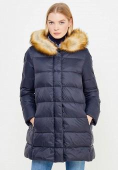 Пуховик, Armani Jeans, цвет: синий. Артикул: AR411EWTYA40. Премиум / Одежда / Верхняя одежда / Пуховики и зимние куртки