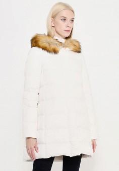 Пуховик, Armani Jeans, цвет: белый. Артикул: AR411EWTYA42. Премиум / Одежда / Верхняя одежда