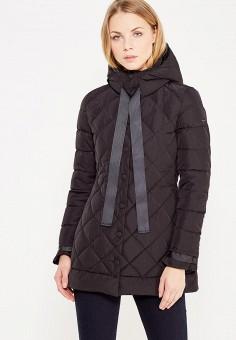 Пуховик, Armani Jeans, цвет: черный. Артикул: AR411EWTYA45. Премиум / Одежда / Верхняя одежда / Пуховики и зимние куртки