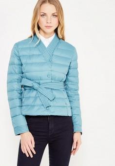 Пуховик, Armani Jeans, цвет: бирюзовый. Артикул: AR411EWTYA66. Премиум / Одежда / Верхняя одежда / Пуховики и зимние куртки