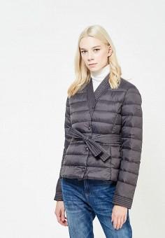 Пуховик, Armani Jeans, цвет: серый. Артикул: AR411EWTYA67. Премиум / Одежда / Верхняя одежда / Пуховики и зимние куртки